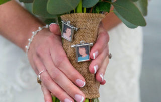 pictures in bridal bouquet